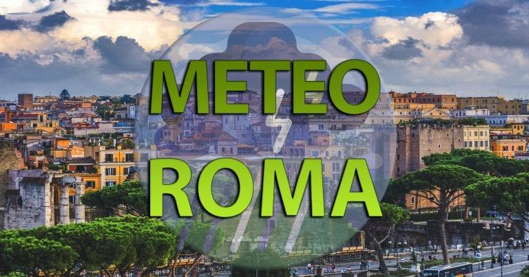 METEO ROMA – tempo ancora instabile e nuove piogge, novità per il WEEKEND