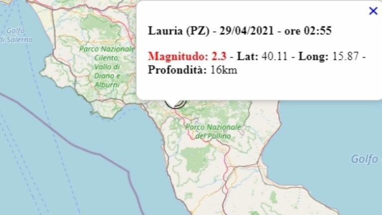 Terremoto in Basilicata oggi, giovedì 29 aprile 2021, scossa M 2.3 in provincia Potenza – Dati Ingv