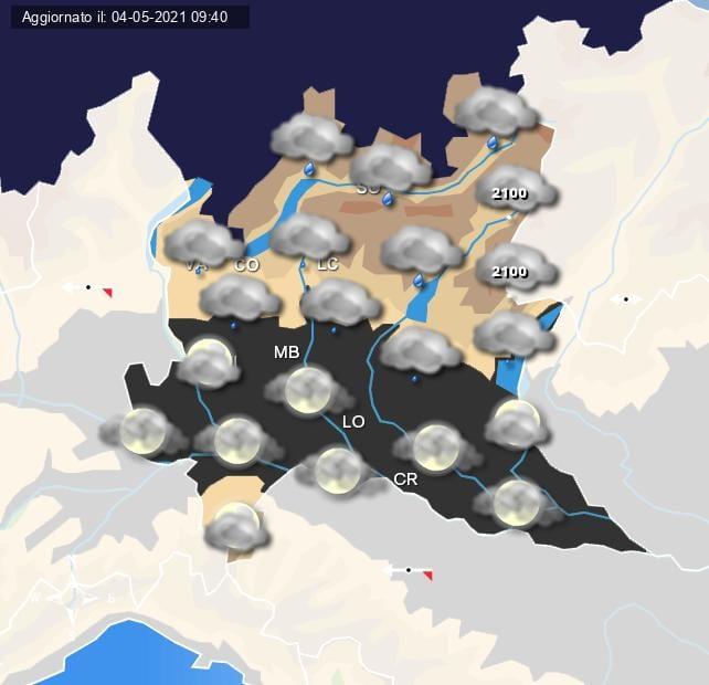 Piogge in arrivo nella serata di giovedì 6 maggio - Centro Meteo Italiano