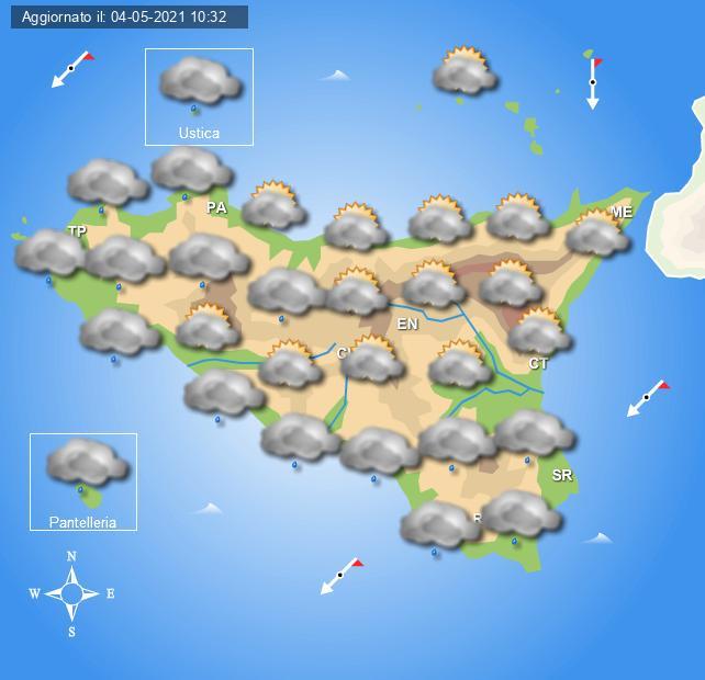 Previsioni meteo per giovedì 6 maggio a cura del Centro Meteo Italiano