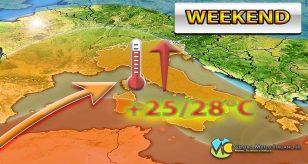 METEO ITALIA - WEEKEND stabile con CALDO primaverile in aumento, salvo locali disturbi; i dettagli