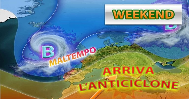 METEO – WEEKEND, un GUIZZO dell'ANTICICLONE porterà BEL TEMPO e clima PRIMAVERILE