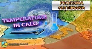 METEO - Violenta fase di MALTEMPO in arrivo sull'ITALIA con CROLLO TERMICO e possibili NUBIFRAGI