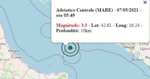 Terremoto oggi