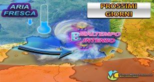 Meteo - Pioggia e maltempo in arrivo in Italia, con annesso calo delle temperature - Centro Meteo Italiano