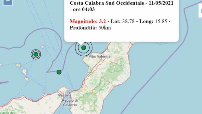 Terremoto oggi Calabria, martedì 11 maggio 2021: scossa M. 3.2 sulla Costa Calabra Sud-Occidentale | Dati INGV
