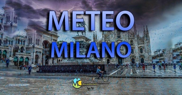METEO MILANO – Maltempo DOMINANTE fino al WEEKEND. Calo delle TEMPERATURE a inizio AGOSTO, le PREVISIONI