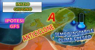 Meteo: in ITALIA giugno potrebbe iniziare fresco e instabile