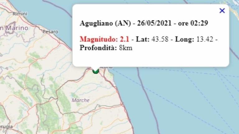 Terremoto nelle Marche oggi, 26 maggio 2021, scossa M 2.1 in provincia di Ancona – Dati Ingv