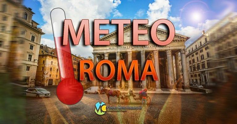 METEO ROMA – Nubi in transito ma con tempo asciutto. CALDO che si fa sempre più intenso. Le PREVISIONI