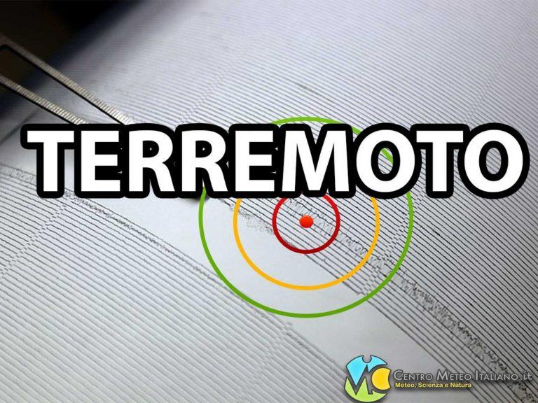 Terremoto intenso M 3.6 nel Mar Ionio: i dati ufficiali EMSC