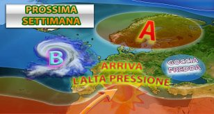 L'alta pressione tornerà a fare da padrona sull'Italia e su gran parte dell'europa nella prossiama settimana - Centro Meteo Italiano