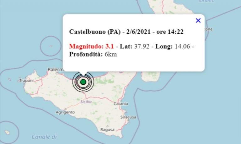 Terremoto oggi in Sicilia, 2 giugno 2021: scossa M 3.1 in provincia di Palermo – Dati INGV