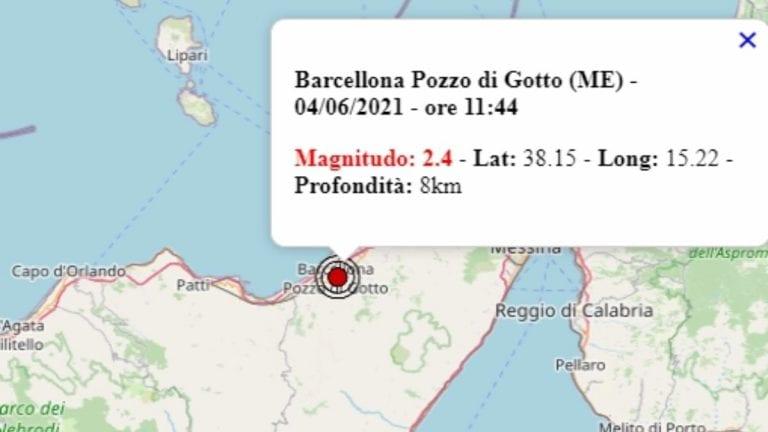 Terremoto in Sicilia oggi, 4 giugno 2021, scossa M 2.4 in provincia di Messina – Dati Ingv