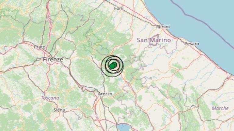 Terremoto in Toscana oggi, 7 giugno 2021: scossa M 3.0 avvertita in provincia di Arezzo – Dati Ingv