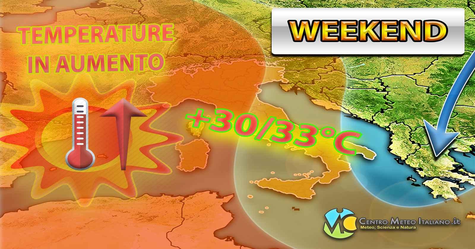 Temperature in aumento e tempo più estivo nel weekend, ma non per tutti - Centro Meteo Italiano
