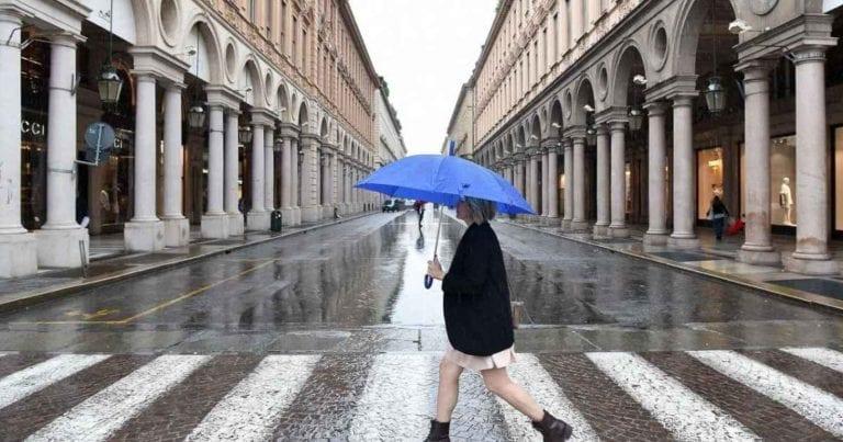 METEO TORINO – Possibile MALTEMPO in arrivo in città a causa di un FLUSSO PERTURBATO, le previsioni