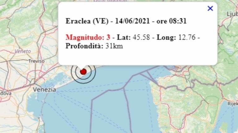 Terremoto in Veneto oggi, 14 giugno 2021: scossa M 3.0 avvertita in provincia di Venezia – Dati Ingv