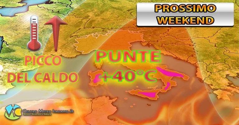 METEO ITALIA: qualche temporale sparso poi GRANDE CALDO in arrivo