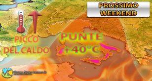 Prossimo weekend molto caldo con punte oltre i +40 gradi