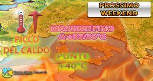 METEO - L'ITALIA PIOMBA nel FORNO AFRICANO nel WEEKEND con TEMPERATURE anche oltre i +40°C