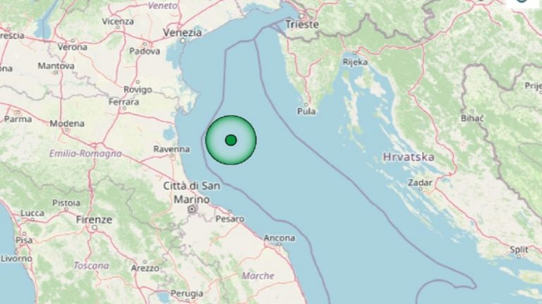 Terremoto in Emilia Romagna oggi, domenica 11 luglio 2021: sisma M. 4.1 nel mar Adriatico Settentrionale – Dati INGV
