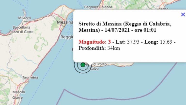 Terremoto in Calabria oggi, mercoledì 14 luglio 2021: scossa M 3.0 in provincia di Reggio Calabria – Dati Ingv