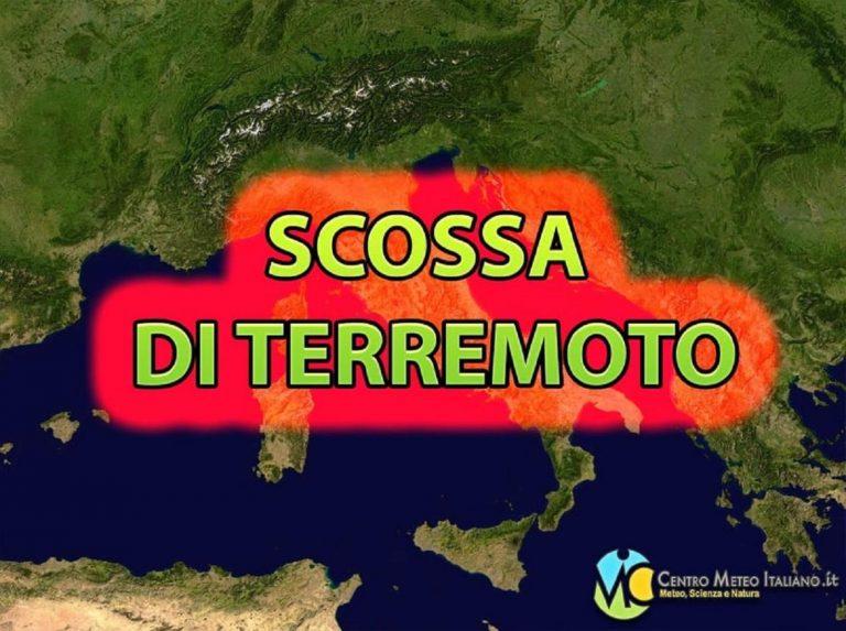 Terremoto intenso M 3.4 nel distretto Adriatico Centrale: i dati ufficiali INGV