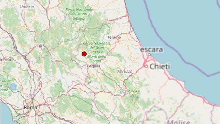 Terremoto in Abruzzo oggi, lunedì 19 luglio 2021: sisma registrato in provincia dell'Aquila – Dati Ingv