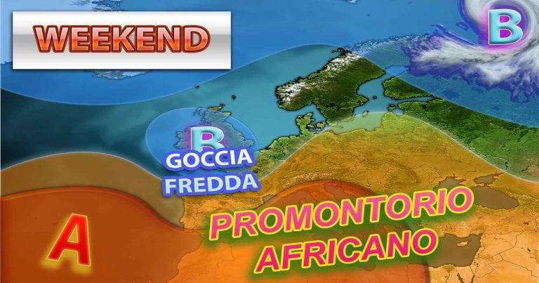 METEO – WEEKEND tra CALDO AFRICANO e forti TEMPORALI per una PERTURBAZIONE in arrivo, i dettagli