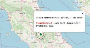 Terremoto oggi Umbria
