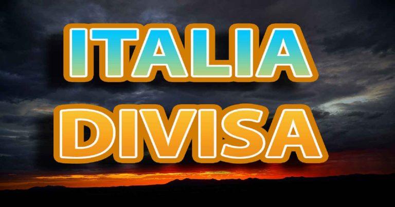 METEO – ITALIA divisa in due: IMMINENTI NUBIFRAGI al nord, TEMPERATURE di oltre +40°C al sud