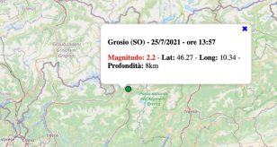 Terremoto in Lombardia oggi, domenica 25 luglio 2021: scossa M 2.2 in provincia di Sondrio