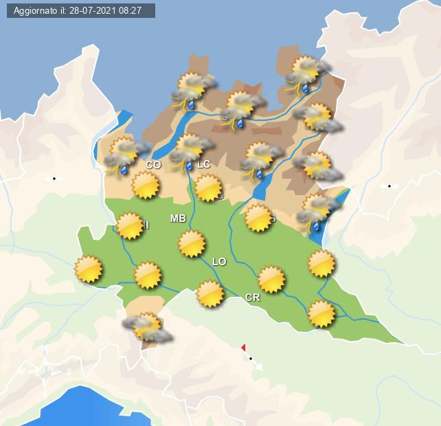 Instabilità sull'arco alpino domani - Centro meteo Italiano