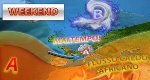 Peggioramento meteo atteso nel prossimo weekend