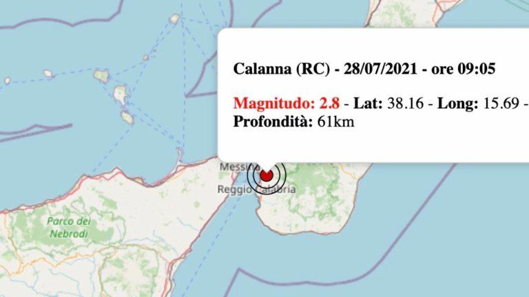 Terremoto in Calabria oggi, mercoledì 28 luglio 2021: scossa M 2.8 in provincia di Reggio Calabria   Dati INGV