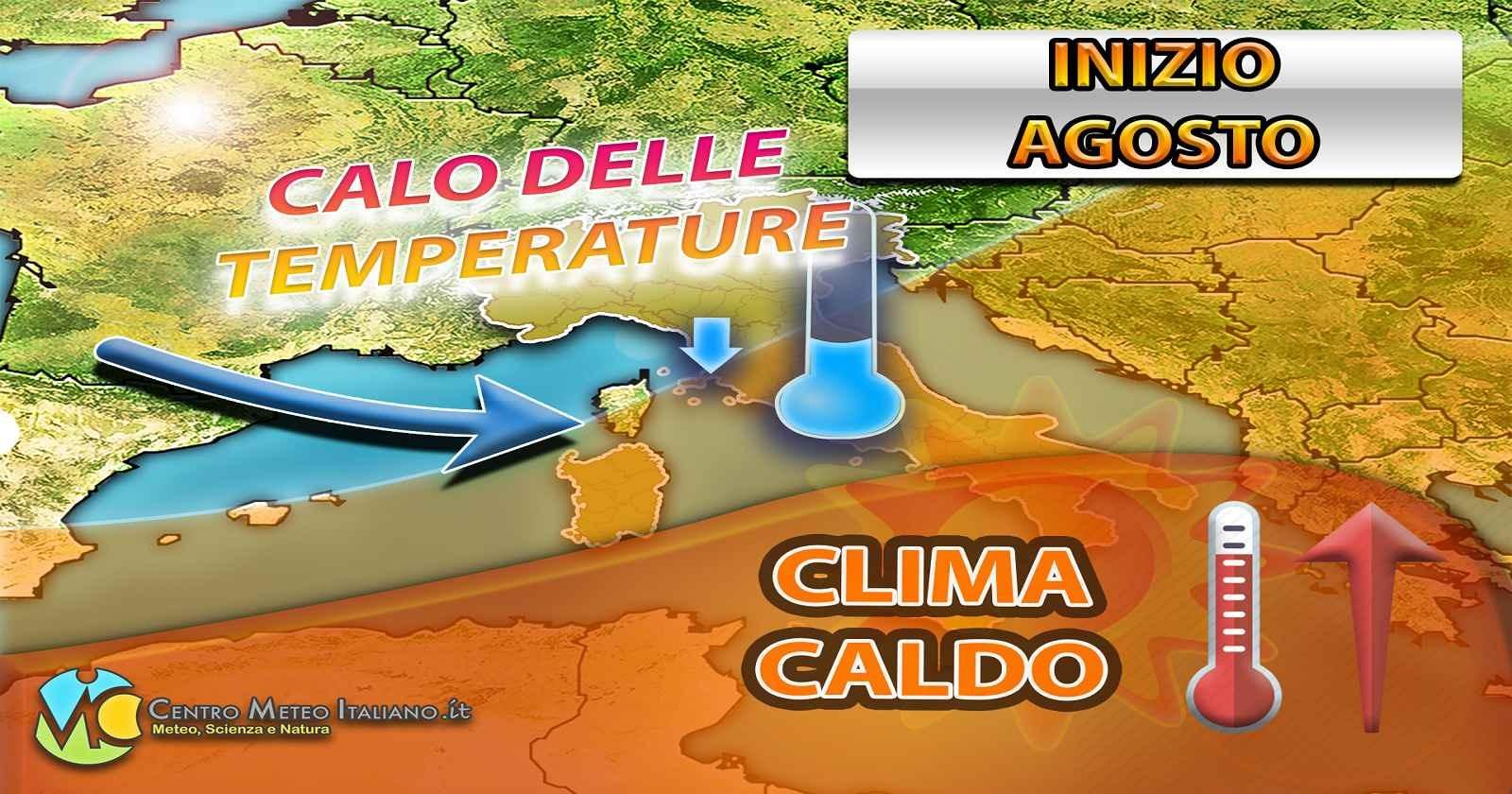 Meteo: agosto inizia con caldo intenso al Sud