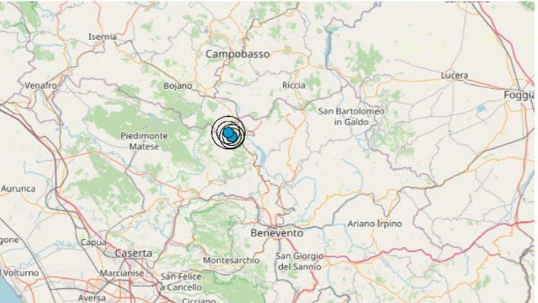 Terremoto in Campania oggi, 3 agosto 2021: scossa M 2.3 in provincia di Benevento | Dati Ingv