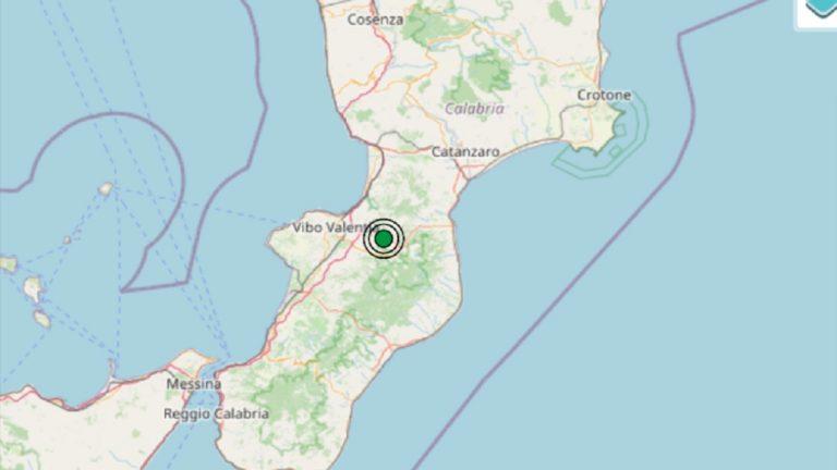 Terremoto in Calabria oggi, 12 settembre 2021: scossa M 2.4 in provincia di Vibo Valentia | Dati INGV