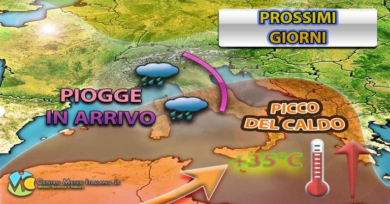 METEO – ATTACCO di MALTEMPO in arrivo in ITALIA con TEMPORALI e CROLLO TERMICO, i dettagli