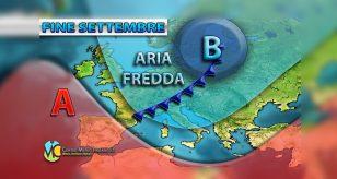 Possibile ondata di freddo per la fine del mese di settembre, ecco dove - Centro Meteo Italiano