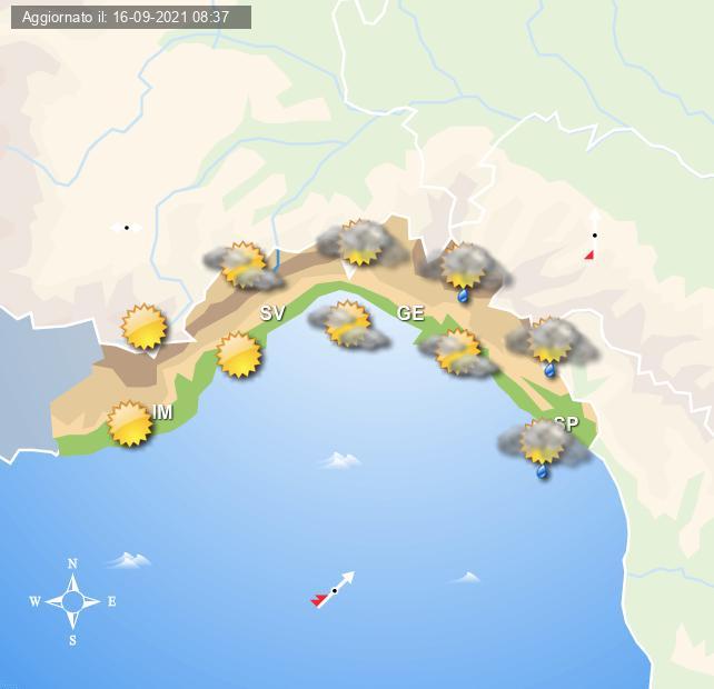 Meteo Liguria, con tempo in miglioramento dalla giornata di domani - Centro Meteo Italiano