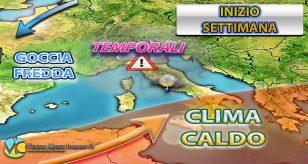 METEO - AUTUNNO a TUTTO GAS con MALTEMPO in arrivo in ITALIA anche ad INIZIO SETTIMANA, ecco dove