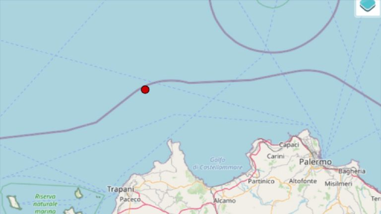 Terremoto in Sicilia oggi, sabato 18 settembre 2021: scossa M 3.4 in provincia di Trapani   Dati INGV