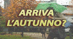 Piogge autunnali in vista per ottobre