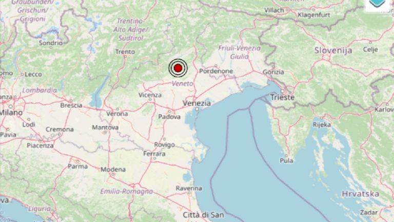 Terremoto in Veneto oggi, 28 settembre 2021: scossa M 3.7 in provincia di Treviso | Dati INGV
