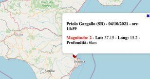 Terremoto in Sicilia oggi, lunedì 4 ottobre 2021: scossa M 2.0 in provincia di Siracusa