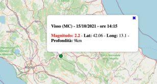 terremoto marche 15 ottobre 2021
