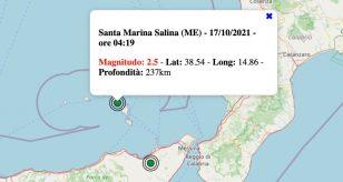 Terremoto in Sicilia oggi, domenica 17 ottobre 2021: scossa M 2.5 in provincia di Messina