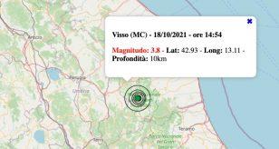 terremoto marche oggi 18 ottobre 2021